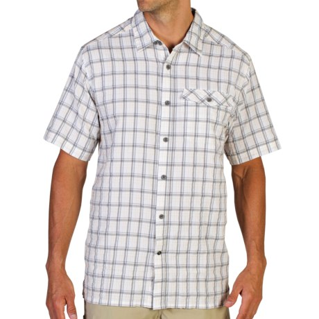 ExOfficio Quadrant Plaid Shirt UPF 20+, Short Sleeve (For Men)