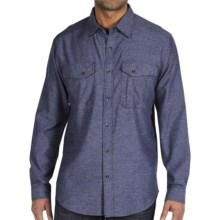 ExOfficio Roughian Flannel Shirt - Long Sleeve (For Men) in Navy - Closeouts