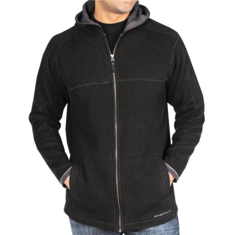 ExOfficio Roughian Hooded Sweater - Wool Blend (For Men) in Black