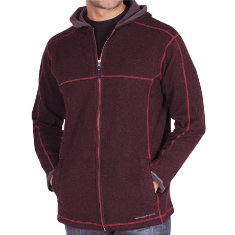 ExOfficio Roughian Hooded Sweater - Wool Blend (For Men) in Dark Brick