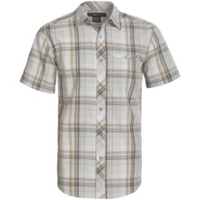 ExOfficio Roughian Macro Plaid Shirt - Short Sleeve (For Men) in Birch - Closeouts