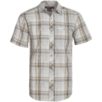 ExOfficio Roughian Macro Plaid Shirt - Short Sleeve (For Men) in Birch