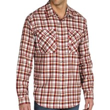 ExOfficio Roughian Plaid Flannel Shirt - Long Sleeve (For Men) in Dark Brick - Closeouts