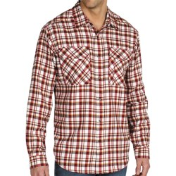 ExOfficio Roughian Plaid Flannel Shirt - Long Sleeve (For Men) in Navy