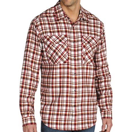 ExOfficio Roughian Plaid Flannel Shirt - Long Sleeve (For Men) in Dark Brick