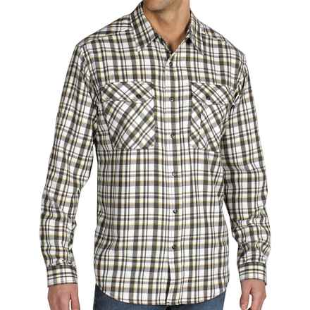 ExOfficio Roughian Plaid Flannel Shirt - Long Sleeve (For Men) in Dark Charcoal - Closeouts