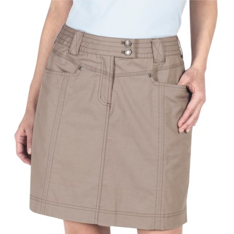 ExOfficio Roughian Skirt - UPF 50+, Canvas (For Women) in Sage