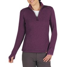 ExOfficio Roughian Sweater - Fleece-Lined, Zip Neck (For Women) in Plum - Closeouts