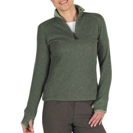 ExOfficio Roughian Sweater - Fleece-Lined, Zip Neck (For Women) in Black