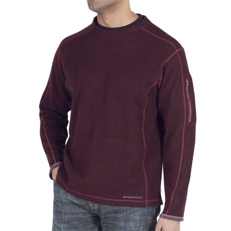 ExOfficio Roughian Sweater (For Men) in Dark Brick