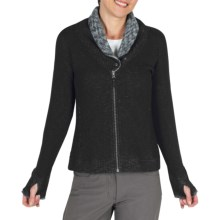 ExOfficio Roughian Sweater - Full Zip, Fleece-Lined (For Women) in Black - Closeouts