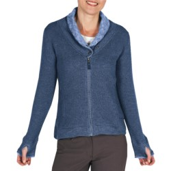 ExOfficio Roughian Sweater - Full Zip, Fleece-Lined (For Women) in Ensign