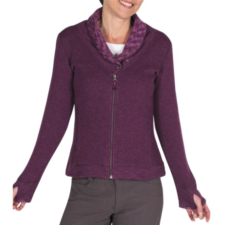 ExOfficio Roughian Sweater - Full Zip, Fleece-Lined (For Women) in Plum
