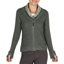 ExOfficio Roughian Sweater - Full Zip, Fleece-Lined (For Women) in Rosemary - Closeouts