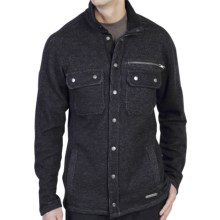 ExOfficio Ruvido Shirt Jacket Sweater - Snap Front (For Men) in Black - Closeouts