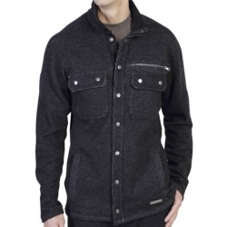 ExOfficio Ruvido Shirt Jacket Sweater - Snap Front (For Men) in Black