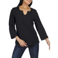 ExOfficio Savvy Chic Athena Shirt - 3/4 Sleeve (For Women) in Black - Closeouts