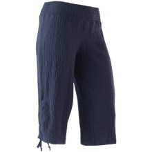 ExOfficio Savvy Gaucho Pants - Scrunch Cloth (For Women) in Navy - Closeouts