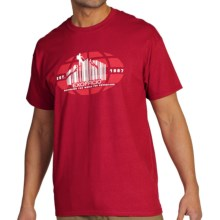 ExOfficio Scanning the World T-Shirt - Short Sleeve (For Men) in Cardinal - Closeouts