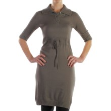 ExOfficio Senora Sweater Dress - Elbow Sleeve (For Women) in Slate - Closeouts