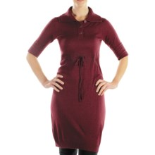 ExOfficio Senora Sweater Dress - Elbow Sleeve (For Women) in Wine - Closeouts