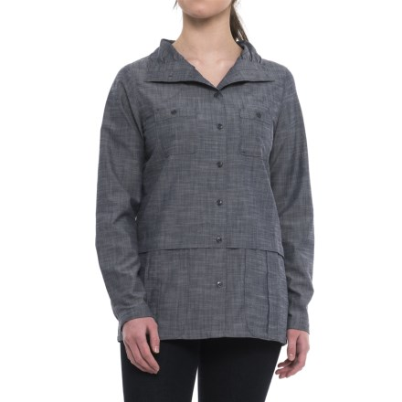 812b3dd4ce8 ExOfficio Sol Cool Chambray Shirt - Long Sleeve (For Women) in Indigo -  Closeouts
