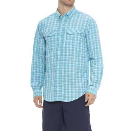 ExOfficio Sol Cool Cryogen Plaid Shirt - UPF 50+, Long Sleeve (For Men) in Deep Sea - Closeouts
