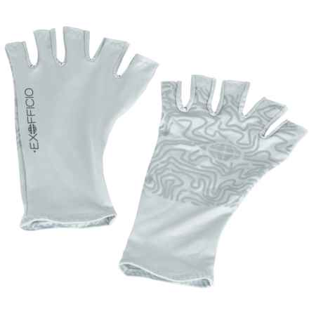 ExOfficio Sol Cool Gloves - UPF 50+ (For Men and Women) in Oyster - Closeouts
