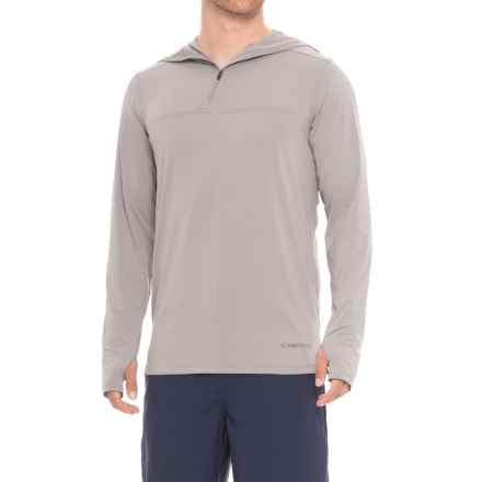 ExOfficio Sol Cool High-Performance Hoodie - UPF 50 (For Men) in Cement - Closeouts