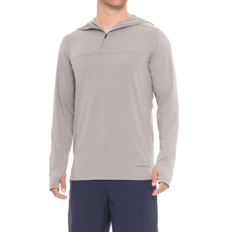 ExOfficio Sol Cool High-Performance Hoodie - UPF 50 (For Men) in Cement