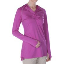 ExOfficio Sol Cool Hoodie Sweatshirt - UPF 50+ (For Women) in Raspberry - Closeouts