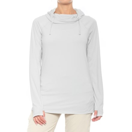 49541a31cd ExOfficio Sol Cool Perform Hoodie - UPF 50 (For Women) in Platinum -  Closeouts
