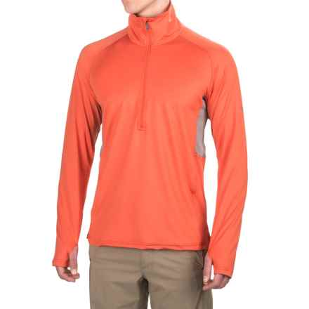 ExOfficio Sol Cool Shirt - UPF 50+, Zip Neck, Long Sleeve (For Men) in Fire Opal - Closeouts