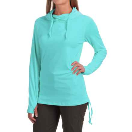 ExOfficio Sol Cool Ultimate Hooded Shirt - UPF 50, Long Sleeve (For Women) in Azul - Closeouts