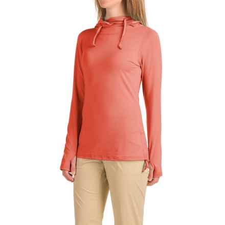 ExOfficio Sol Cool Ultimate Hoodie - UPF 50 (For Women) in Hot Coral - Closeouts
