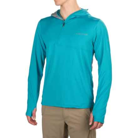 ExOfficio Sol Cool Ultimate Hoodie - UPF 50+, Zip Neck (For Men) in Deep Sea - Closeouts