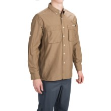 ExOfficio Solid Air Strip Shirt - UPF 30+, Long Sleeve (For Men) in Dark Khaki - Closeouts