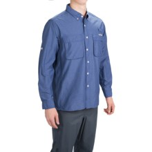 ExOfficio Solid Air Strip Shirt - UPF 30+, Long Sleeve (For Men) in Deeplake - Closeouts