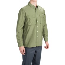 ExOfficio Solid Air Strip Shirt - UPF 30+, Long Sleeve (For Men) in Dusty Olive - Closeouts