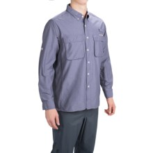 ExOfficio Solid Air Strip Shirt - UPF 30+, Long Sleeve (For Men) in Grey - Closeouts