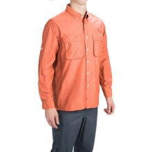 ExOfficio Solid Air Strip Shirt - UPF 30+, Long Sleeve (For Men) in Orange - Closeouts