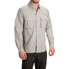 ExOfficio Solid Air Strip Shirt - UPF 30+, Long Sleeve (For Men) in Oyster - Closeouts