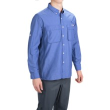 ExOfficio Solid Air Strip Shirt - UPF 30+, Long Sleeve (For Men) in Pacific - Closeouts