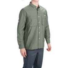 ExOfficio Solid Air Strip Shirt - UPF 30+, Long Sleeve (For Men) in Rosemary - Closeouts