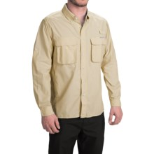 ExOfficio Solid Air Strip Shirt - UPF 30+, Long Sleeve (For Men) in Wheat - Closeouts