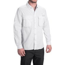 ExOfficio Solid Air Strip Shirt - UPF 30+, Long Sleeve (For Men) in White - Closeouts