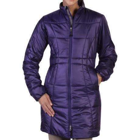 ExOfficio Storm Logic Trench Coat - Insulated (For Women) in Dark Verbena