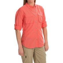 ExOfficio Super Air Strip Shirt - Long Sleeve (For Women) in Coral - Closeouts