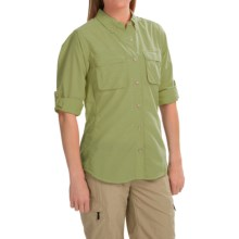 ExOfficio Super Air Strip Shirt - Long Sleeve (For Women) in Fern - Closeouts