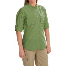 ExOfficio Super Air Strip Shirt - Long Sleeve (For Women) in Green - Closeouts